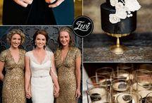 Black & gold wedding