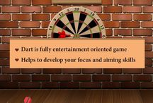 Dart Game / Dart is fully entertainment oriented game it helps to develop your focus and aiming skills . once you score in this game you will never try to play another games forever. dart can easily interact with you while playing, so play the game and feel your dart skill.