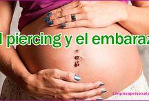 PIRCING EN EL OMBLIGO Y EL EMBARAZO.