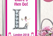 Hen Do Party / Item for Hen Party - Iron on transfer - Wine label - Poster - Label - Party bag