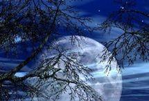 Pinturas con la luna