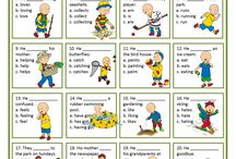 Present Simple with Caillou