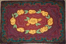 Hooked Rugs and Kits:  Primitive Designs / Primitive rug hooking patterns, kits and finished rugs