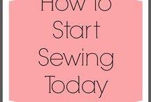 Mom sews