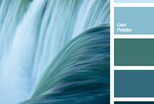 Color palettes Blue Palety kolorów - niebieski