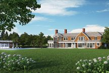 24 Gin Lane, Southampton NY / An exclusive enclave of Jay Bialsky homes are setting the bar as the premier estates in the epicenter of the Southampton Estate section. Each grand dwelling encompasses vision and talent of New York's GRADE Architecture + Interior Design; who have been commissioned to design and site custom and unique transitional homes on the properties.  24 Gin Lane will have 9,400 SF +/- of unique living space on two levels.