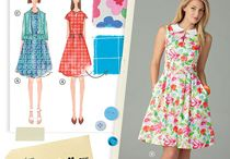 Mary Quant & Princess Merida / Patterns & fabrics for D :) Feel free to delete any that aren't right / by Sarah G
