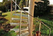 escalier galva et rambarde inox