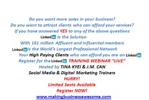 LinkedIn Training Webinar / by Tina Kyei