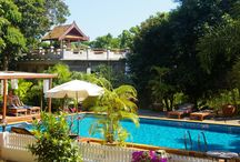 Good Time Resort Little Pool / There is a little romantic pool in the center of the tropical garden...