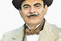 Hercule Poirot / I discovered him rather late in my life, this little Belgian detctive. Now I prefer him even to famous Miss Marple.