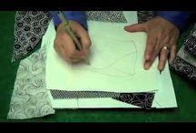 Zentangle on fabric