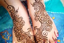 Wedding shoes henna