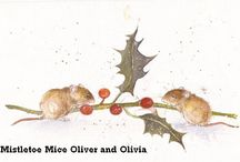 Christmas Cards / Mice, hares and voles Christmas