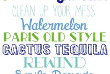 Fonts and typography / Available fonts and typographical beauty