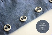 Buttons & buttonholes / This is the place where you can learn about sewing buttons and buttonholes. Learn how to sew buttons with a sewing machine or how to make buttonholes with a sewing machine.