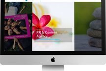WEB DESIGN | The Spa PR Company / A london based company specialising in the health & well being industry.