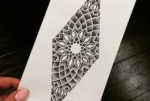 Татуировки с геометрическим дизайном