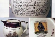 English Illustrative pottery