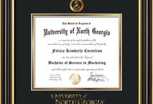 University of North Georgia - UNG - Diploma Frames & Graduation Gifts! / Official UNG Diploma frames. Exquisitely crafted to exacting specifications for the UNG diploma. Custom framed using hardwood mouldings and all archival materials, including UV glass to prevent fading from sunlight AND indoor incandescent lighting! Each frame exceeds Library of Congress standards for document preservation and includes a 100% lifetime guarantee, ensuring that a hard-earned achievement will be honored and protected for generations. Makes a thoughtful and unique graduation gift!