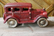 Arcade Toy Cars Hubley Style / Arcade Toy Cars. Cast Iron. Hand-Painted. Hubley Style. Movable Wheels.