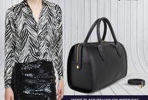 Jackie black Cylinder handbag