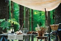 Comendo ao ar livre / Decoração de Mesas e inspirações para áreas externas