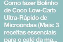 bolinho de coco low carb