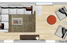 Obývací pokoj + kuchyň