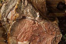 Roast beef in oven