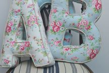 Fabric letter cusions