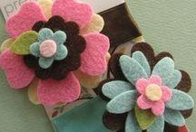 keçeden katlı  çiçek