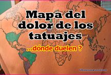 MAPA DEL DOLOR DE LOS TATUAJES DONDE DUELEN MAS.