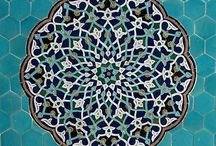 Persian mosaic / Iran landscape and architecture