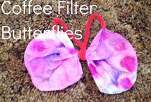 Taaperot: askartelua / Pienille lapsille sopivia askarteluideoita.  Toddler crafts.