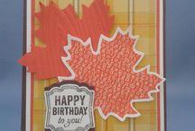 CARDS - Autumn theme / by Alex-PinkCraftyMama