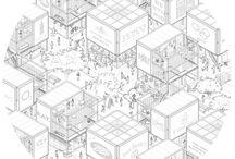 Urban building diagram