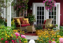 Porch - Southern Life Happens Here / I remember rocking on the porch eating watermelon, gazing at the flower garden and listening to family stories from my grandparents. Very sweet memories! / by Southern Charm Wreaths