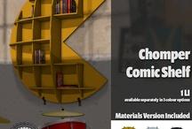 Geek + Gamer Offices / Nerd, gamer, comic book office ideas