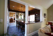 half wall in kitchen