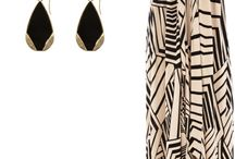 Feminine and flowy for the beach / Black and white beach dress