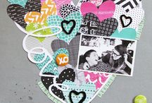 Scrapbook Layouts / Layouts with style. DIY embellishments and die cut titles.