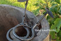 Hand forged home decor