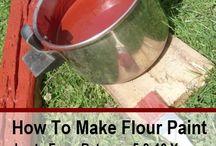 Flour paint