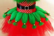 Christmas baby girl costume