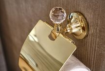 Gold bathroom accessories / Gold#bathroom#accessories#luxury#exclusive