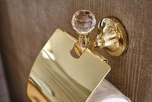 Gold bathroom accessories / Gold#bathroom#accessories#luxury#exclusive