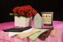 Wedding Table Napkins / Premier wedding napkins with exact color match to our table linens. All of our napkins are of the highest quality. Brides, especially love our Spun Poly, Premier Poly Cotton Twill, Miranda, Melrose and Saxony napkins which are extra soft to the touch and beautiful as well as our Poly Stripe, Satin Classic and Metro Band napkins which are gorgeous napkins.