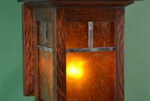 14 Inch Mission Oak Wall Sconce