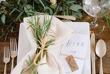 Borddækning - Bryllup